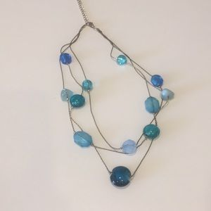 Shades of blue / teal necklace.